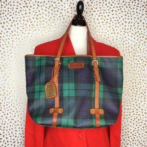 Dooney & Bourke Tartan Plaid coated cotton purse